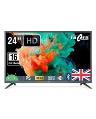 "TV Set GAZER 24"" HD 1366x768 16 GB Wireless LAN 802.11a/b/g/n Bluetooth Android Graphite TV24-HS2G"