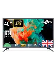 "TV Set GAZER 40"" FHD 1920x1080 16 GB Wireless LAN 802.11b/g/n Bluetooth Android Graphite TV40-FS2G"