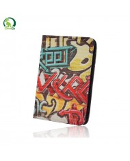 """GreenGo Universal 7-8"""" Tablet PC Eco Leather Book Case with Stand Graffiti Street"""
