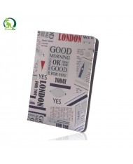 """GreenGo Universal 7-8"""" Tablet PC Eco Leather Book Case with Stand Newspaper"""