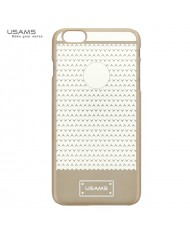 Usams Super Thin V-Plating Plastic Back Cover Apple iPhone 6 Plus 6S Plus Transparent Gold