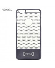 Usams Super Thin V-Plating Plastic Back Cover Apple iPhone 6 Plus 6S Plus Transparent Black