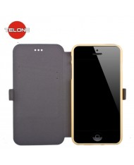 Telone Super Slim Shine Book Case with stand Samsung J100H Galaxy J1 Gold
