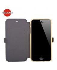 Telone Super Slim Shine Book Case with stand Huawei Honor 5C / Honor 7 Lite Gold