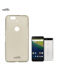 Kisswill Frosted Ultra Thin 0.6mm Back Case Huawei Nexus 6P Smoked Black