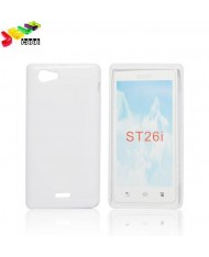 Forcell Jelly Back Case Sony ST26i Xperia J silicone case White