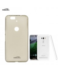 Kisswill Frosted Ultra Thin 0.6mm Back Case Asus Zenfone Selfie ZD551KL Smoked Black