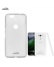 Kisswill Frosted Ultra Thin 0.6mm Back Case Asus Zenfone Selfie ZD551KL Transparent