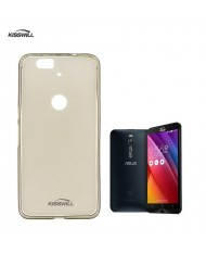 Kisswill Frosted Ultra Thin 0.6mm Back Case Asus Zenfone 2 ZE550ML / ZE551ML Smoked Black