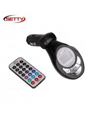 Setty Car FM Transmitter 4in1 with USB / SD / Micro SD Slot / Aux 3.5mm + Slim remote