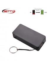 Setty Midi Cube Power Bank 4000mAh External Charger USB 5V 1A Port + Mico USB + Hand Strap Black