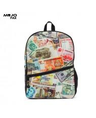 "Mojo ""Paper Money"" Backpack (43x30x16cm) Multi Color"