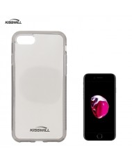 Kisswill Frosted Ultra Thin 0.6mm Back Case Apple iPhone 7 Plus / 8 Plus (5.5inch) Smoked Black