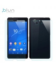 Blun Extreeme Shock Screen Protector 0.33mm / 2.5D Glass Sony D5803 Xperia Z3 Mini Front+Back