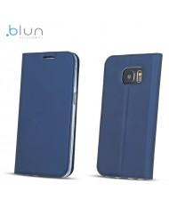 Blun Premium Matt Eco-leather Smart Magnetic Fix Book case with stand Huawei P8 Lite (2017) / P9 Lite (2017) Dark Blue