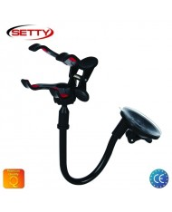 Setty Froggy Leg Universal Car Window Holder with 20cm Adjustable Stick (4.5-11.5 cm wide Easy Clip fix) Black