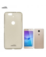Kisswill Frosted Ultra Thin 0.6mm Back cover case Huawei Y6 (2017) Smoked Black