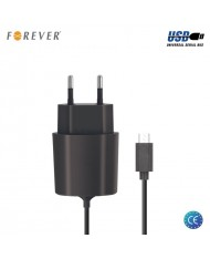 Forever Universal 2.1A Travel Charger Mini USB 5pin Tablet PC / GPS Navigation HQ Analog Black 1m Cable
