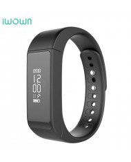 iWOWN I5 Plus Fitness Tracker - Smart Watch Bracelet Sleep Minitor with Oled Display & Touch Panel Black