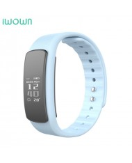 iWOWN I6 HR Fitness Tracker - 2in1 Heart Monitor and Smart Watch Bracelet Oled Display & Touch Panel White