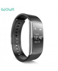 iWOWN I6 Pro Fitness Tracker - 2in1 Heart Monitor and Smart Watch Bracelet Oled Display & Touch Panel Black