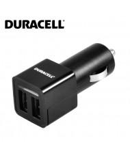 Duracell 3.4A Double USB Adative 1A + 2.4A Plug Car 12V-24V DC 5V Charger Smartphone / Tablet PC Black