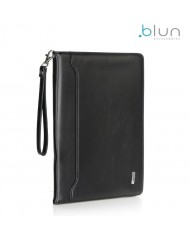 "Blun Eco-leather Universal Book Case with Stand and card slots for Tablet PC with 7"" screen Black"
