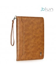 "Blun Eco-leather Universal Book Case with Stand and card slots for Tablet PC with 7"" screen Brown"