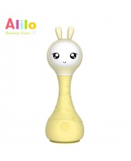 Alilo R1 LV Smart Rabbit - Sleep Melody - Latvian Story Telling Toy for Baby (0+ months) Night Led Yellow