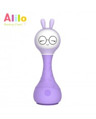 Alilo R1 LV Smart Rabbit - Sleep Melody - Latvian Story Telling Toy for Baby (0+ months) Night Led Purple