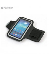 """Platinet POSB SmartPhone 5"""" Max (12.5x6cm) Armband Pouch Case for Sport - Fitness Running Black"""