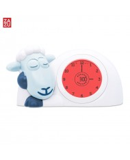 Zazu Sam Smart Lamb - Sleep Trainer with nightlight for childrens (3 years+) Blue