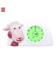 Zazu Sam Smart Lamb - Sleep Trainer with nightlight for childrens (3 years+) Pink