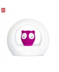 Zazu Lou Smart Owl - Night Lamp with Baby Cry Sound Sensor for childrens (0 months+) Pink