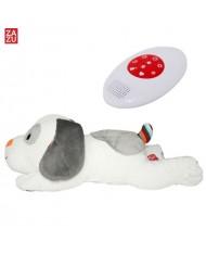 Zazu Dex Smart Dog- Soft sleep Toy with  6 Melodies and Hearbeat Sound for childrens (0 months+)