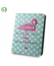 """GreenGo Universal 9-10"""" Tablet PC Eco Leather Book Case Flamingo and dots"""