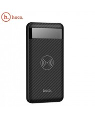 Hoco J11 Multi Port in 10000mAh Wireless Qi Plate Power Bank External Charger 5V Dual USB 2A Max LCD Black