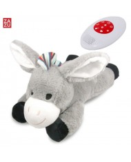 Zazu Don Smart Donkey - Night Lamp with Baby Cry Sound Sensor for childrens (0 months+) Grey