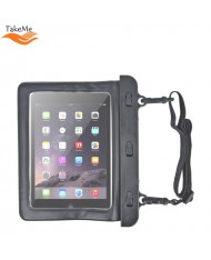 "TakeMe Universal Summer Vacuum safe Waterproof Case with strap for Tablet PC 7-8"" (220x160mm max) Black"