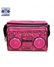 Fydelity Le Boom Box Coolio Thermo Shoulder Bag with Speakers (33x24x10сm) Pink