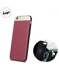 Beeyo Skin Magnetic car holder fix back cover case for Samsung G950 Galaxy 8 Red