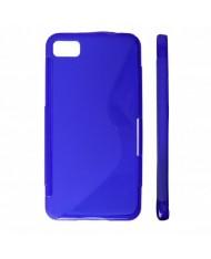 KLT Back Case S-Line Nokia 305 Asha silicone/plastic case Blue