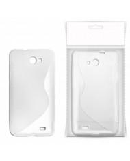 KLT Back Case S-Line Nokia 308 Asha silicone/plastic case White/Transparent