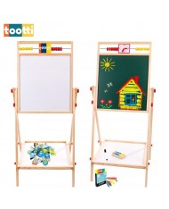 Tootti Tavola Duo Sided ECO Wooden Education Board 39x36.5cm with Accessories and Clock for Kids