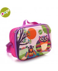 Oops Owl 3D Colorful Soft Lunchbox for kids from 18m+ (24x10x19cm) Pink 31006.12