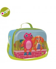 Oops City 3D Colorful Soft Lunchbox for kids from 18m+ (24x10x19cm) Blue 31006.20