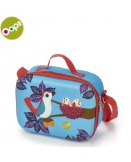 Oops Bird 3D Colorful Soft Lunchbox for kids from 18m+ (24x10x19cm) Blue 31006.32
