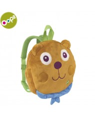 Oops Bear 3D Colorful Soft Backpack with Harness for kids from 18m+ (23x23x6cm) Brown 30006.11
