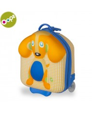 Oops Dog 3D Colorful Trolley Hard Suitcase with wheels and handle for kids from 18m+ (32.5x40x19cm) Yellow 31003.22