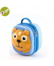 Oops Bear 3D Colorful Thermal Lunchbox for kids from 18m+ (16.6x19.2x12cm) Blue 31004.11